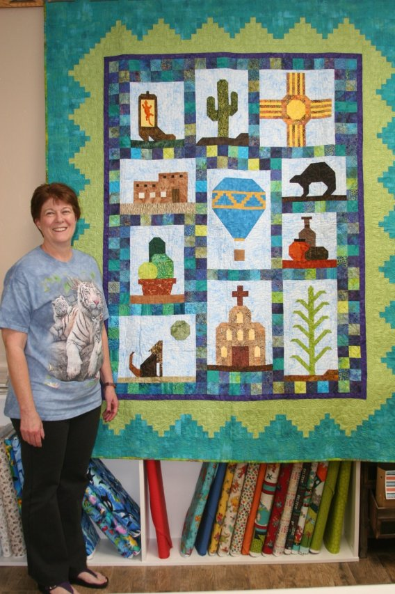 Rita with her new quilt!