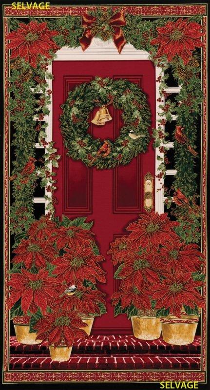Holiday Poinsettia Panel