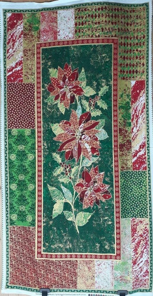 Glistening II-Poinsettia Panel