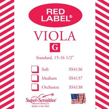 Red Label Viola String- G - Standard 15-16.5 inch