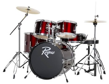 Rogue 5 piece Complete Drum Set with Cymbals and Hardware - D0518