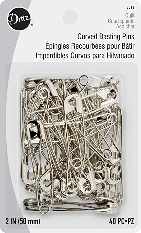 Curved Basting Pins   Size 3   2in   40ct   DL3013