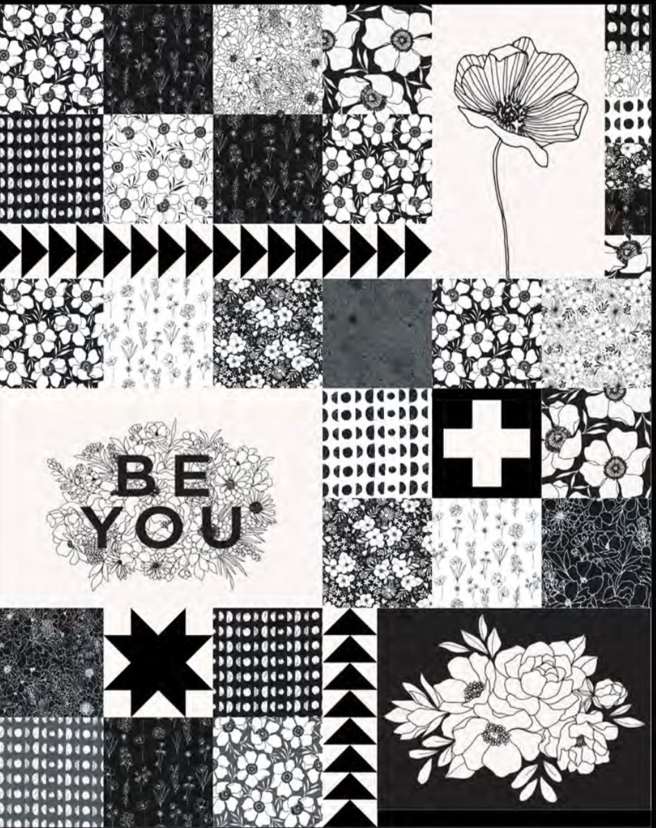 Illustrated Squares Quilt Kit featuring Illustrations fabric by Alli K Design (57in x 71in)