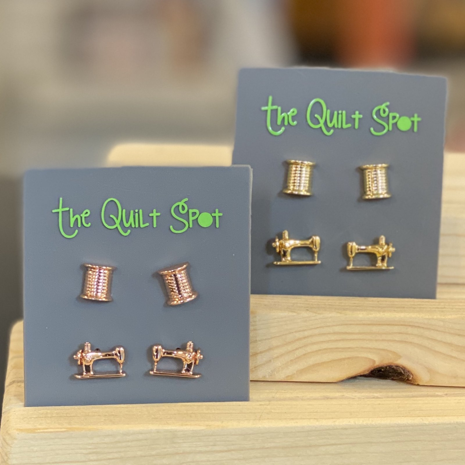 Sewing Machine & Spool Earrings from The Quilt Spot