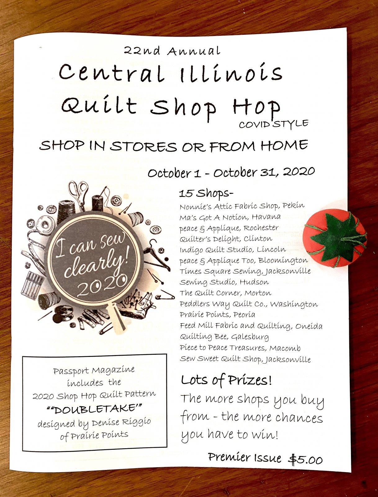 2020 Central Illinois Shop Hop Magazine