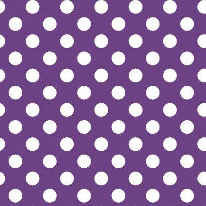 Purple & White Polka Dots | Broomhilda's Bakery Fabric by Maywood Studio