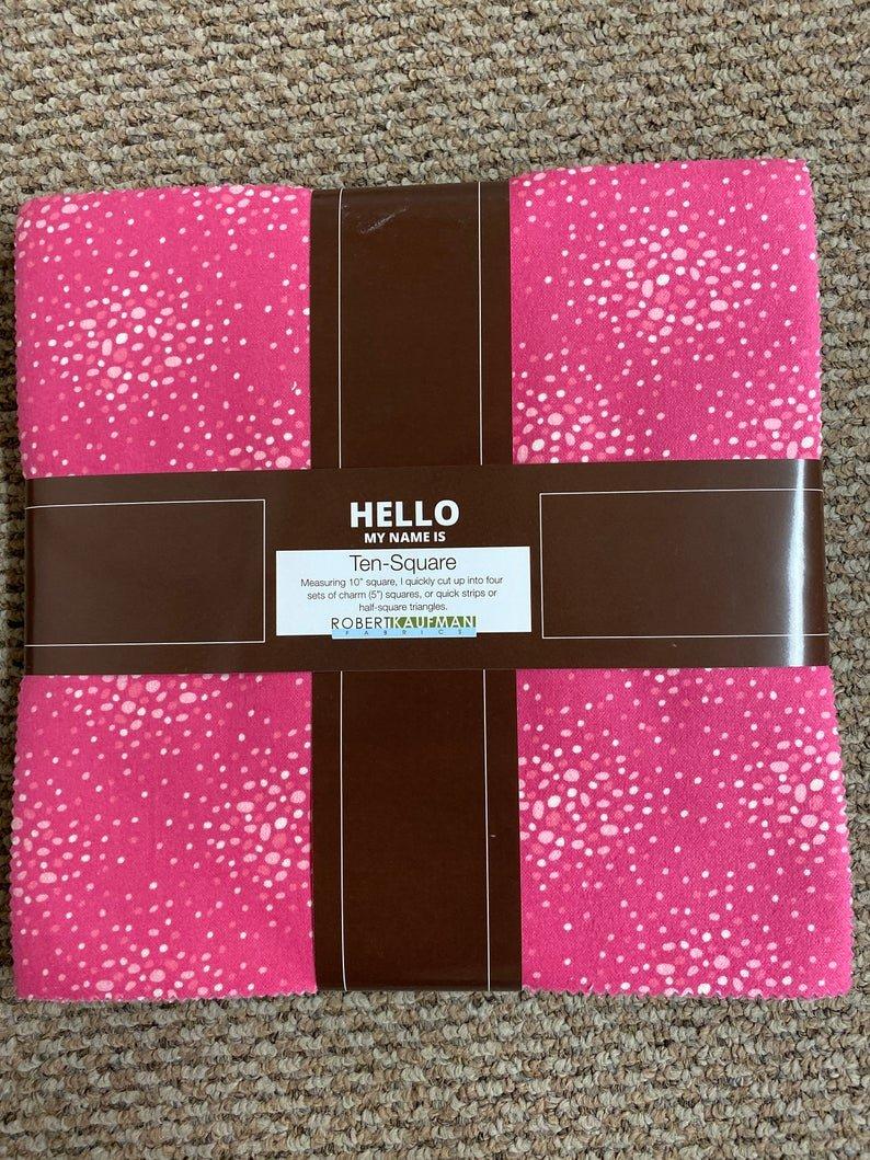 Baby Pinks Flannel Ten-Square from Robert Kaufman Fabrics, 42 pieces