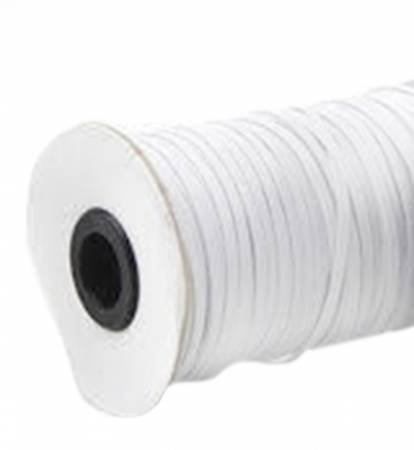 Braided White Elastic, 1/4 inch (sold by the yard)