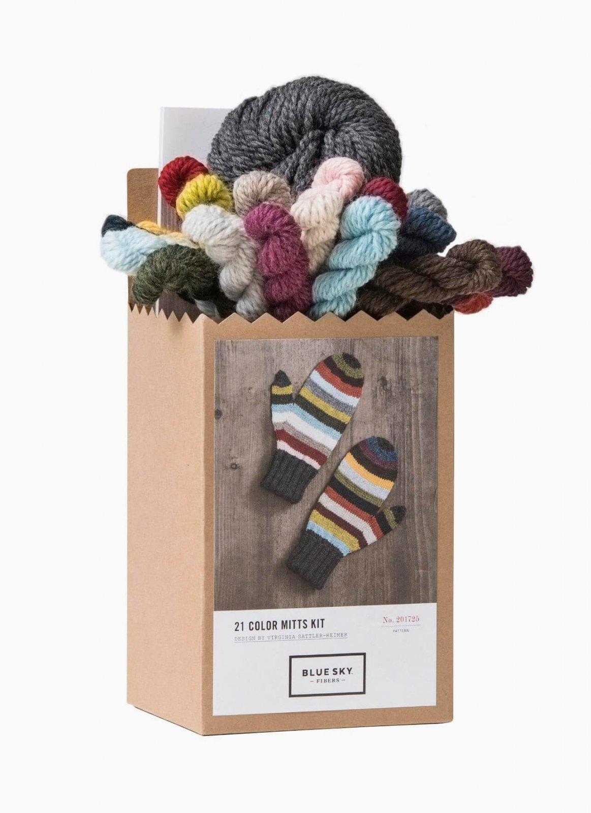 Blue Sky Fibers - 21 Color Mittens Kit - Woolstok
