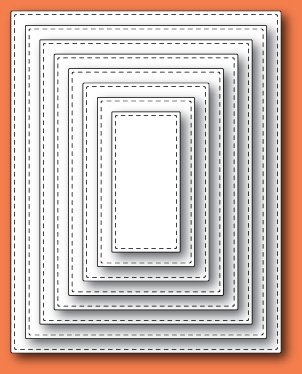 Stitched Rectangle Layers craft dies