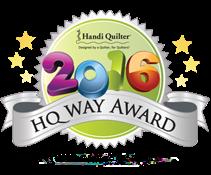 Handi Quilter 2016 HQ Way Award
