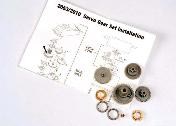 Servo gears (for 2055, 2056 servos)