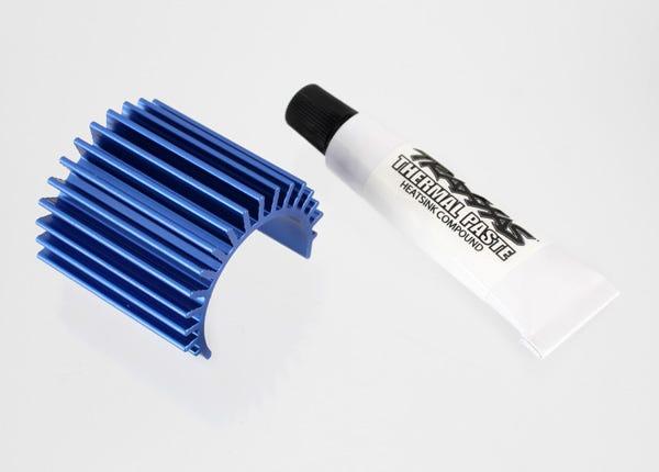 Heat sink, Velineon 380 brushless motor, aluminum (blue-anodized)