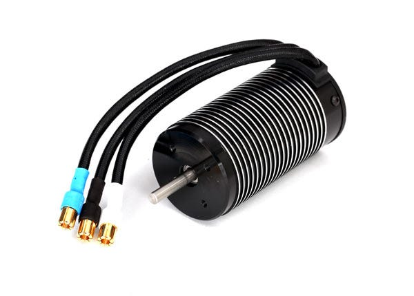 Motor, 2200Kv 75mm, brushless (with 6.5mm gold-plated connectors & high-efficiency heatsink)