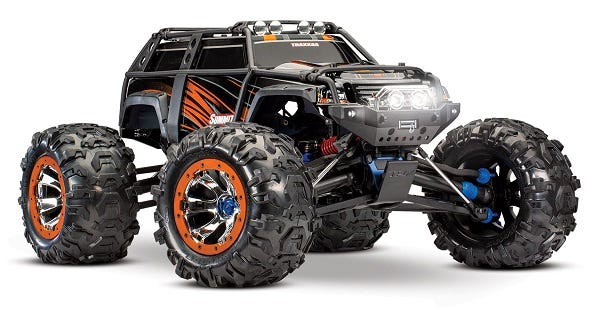 Summit:  1/10 Scale 4WD Electric Extreme Terrain Monster Truck. Ready-to-Race with TQi Traxxas Link? Enabled 2.4GHz Radio System, EVX-2 ESC (fwd/rev), Titan 775 motor
