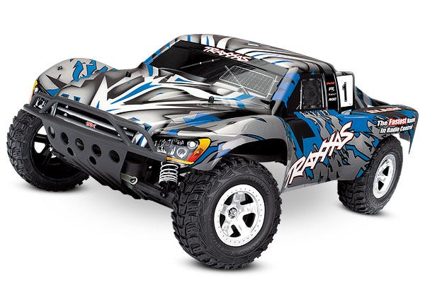 Slash: 1/10-Scale 2WD Short Course Racing Truck.  Ready-To-Race with TQ 2.4GHz radio system and XL-5 E.S.C. (fwd/rev).