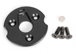Telemetry trigger magnet holders, spur gear/ magnet, 5x2mm (1)/ 3x8mm CCS (3)/ 3x10mm CCS (3)