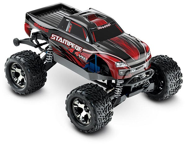 Stampede 4X4 VXL: 1/10 Scale Monster Truck. Ready-to-Race with TQi Traxxas Link™ Enabled 2.4GHz Radio System, Velineon VXL-3s brushless ESC (fwd/rev), and Traxxas Stability Management (TSM).