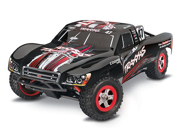 Slash: 1/16 Scale 4WD Electric Short Course Racing Truck.  Ready-To-Race with TQ 2.4GHz radio system, Titan 550 motor and XL-2.5 ESC.  Includes: 6-Cell NiMH 1200mAh Traxxas battery