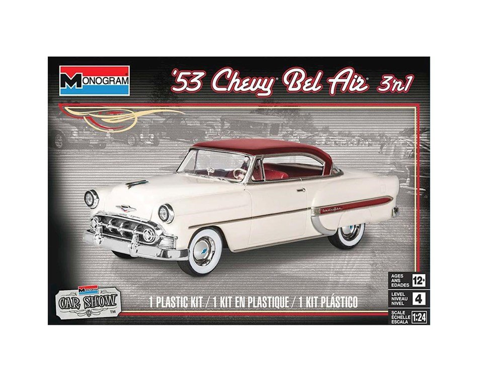 Plastic Model Kit-'54 Chevy Bel Air 3-In-1 1:24