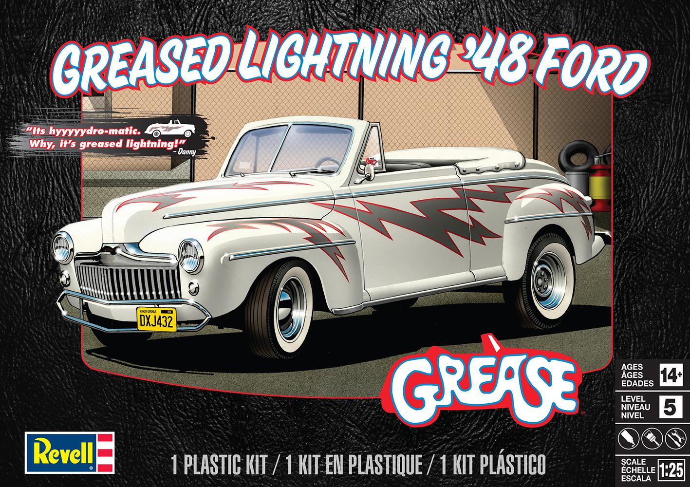 Plastic Model Kit-Greased Lightning '48 Ford Convertible