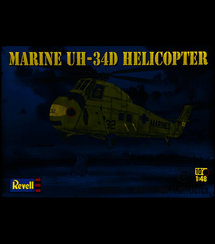 Plastic Model Kit-Marine UH-34 D Helicopter 1:48