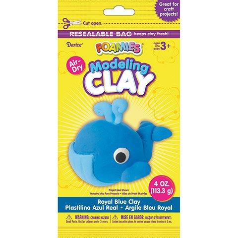 4oz Air Dry Clay  Royal Blue