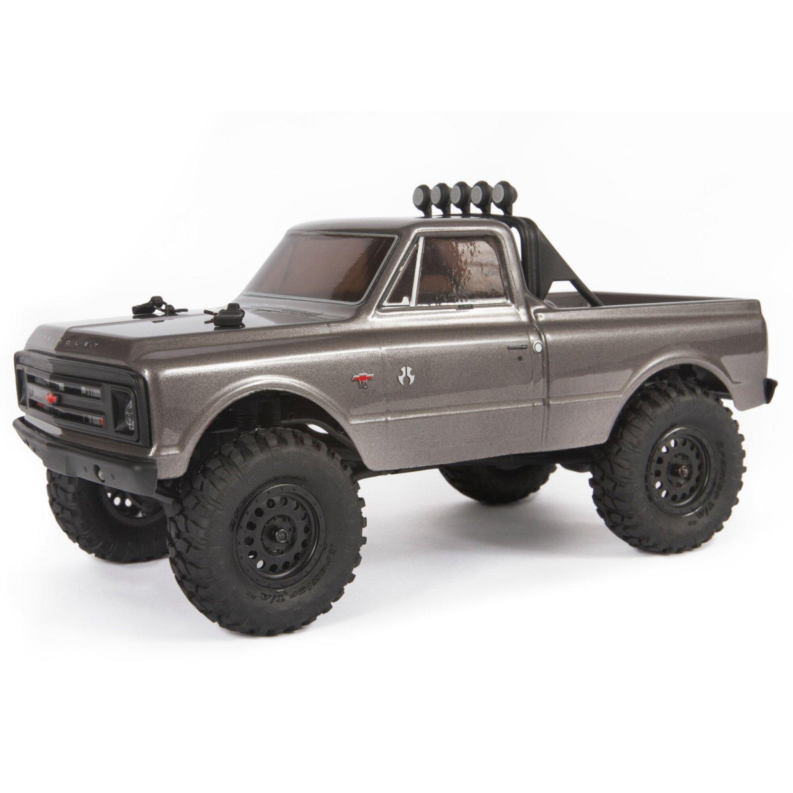 1/24 SCX24 1967 Chevrolet C10 4WD Truck Brushed RTR, Dark Silver