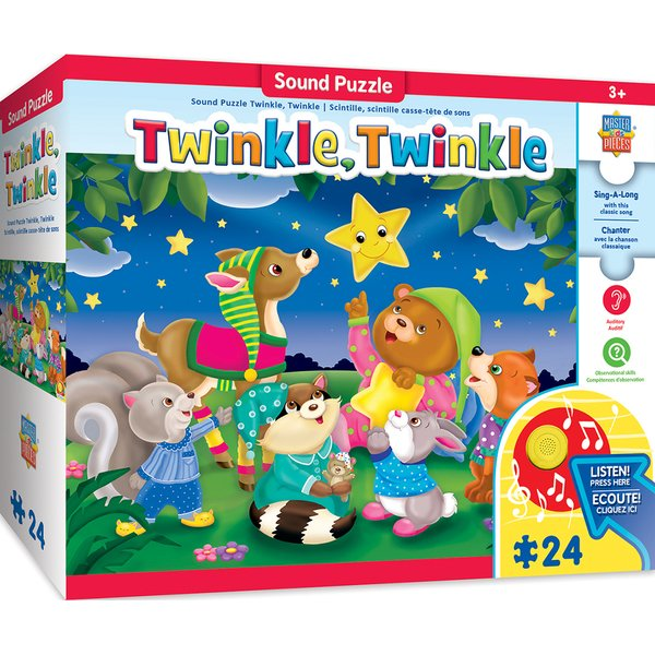 SING-A-LONG TWINKLE TWINKLE - 24 PIECE KIDS PUZZLE WITH 30S SOUND CHIP