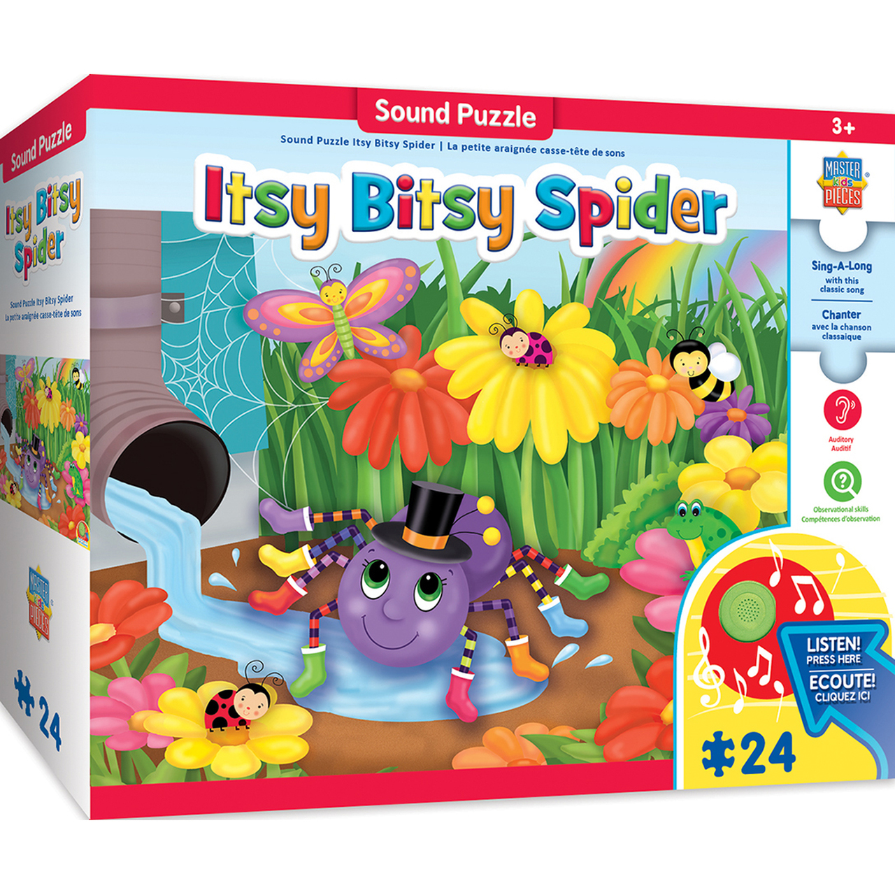 SING-A-LONG THE ITSY BITSY SPIDER - 24 PIECE KIDS PUZZLE WITH 30S SOUND CHIP