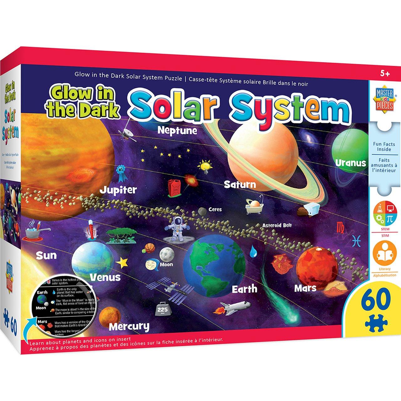 EDUCATIONAL MAPS - SOLAR SYSTEM GLOW 60 PIECE JIGSAW PUZZLE