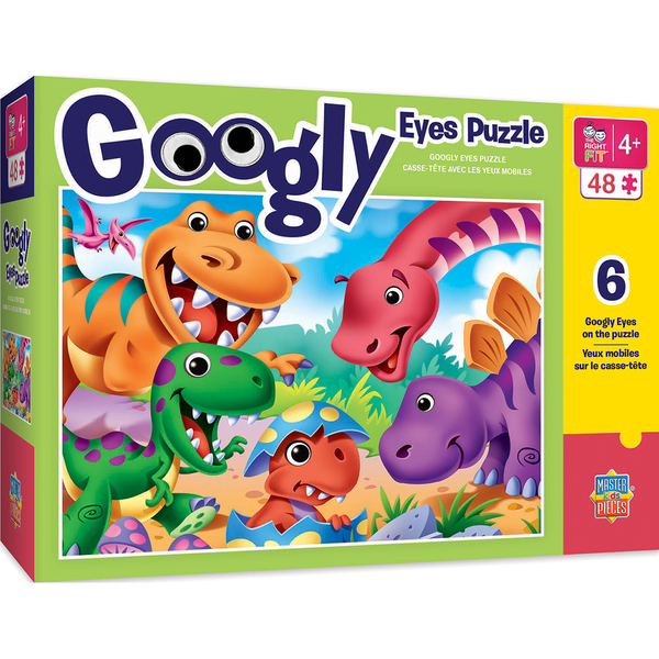 GOOGLY EYE RIGHT FIT - DINOSAURS 48 PIECE JIGSAW PUZZLE