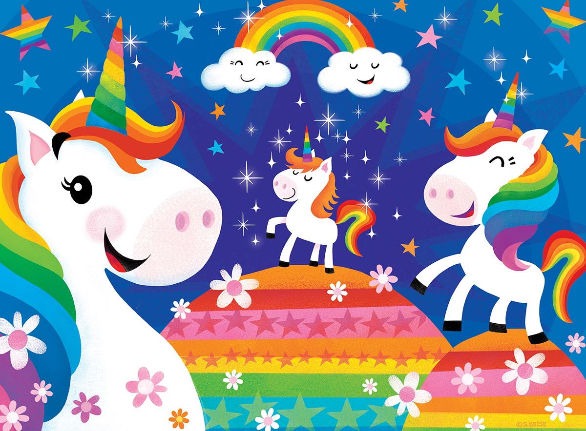Lil Puzzler: Rainbow Unicorns - 24pc Jigsaw Puzzle by Masterpieces