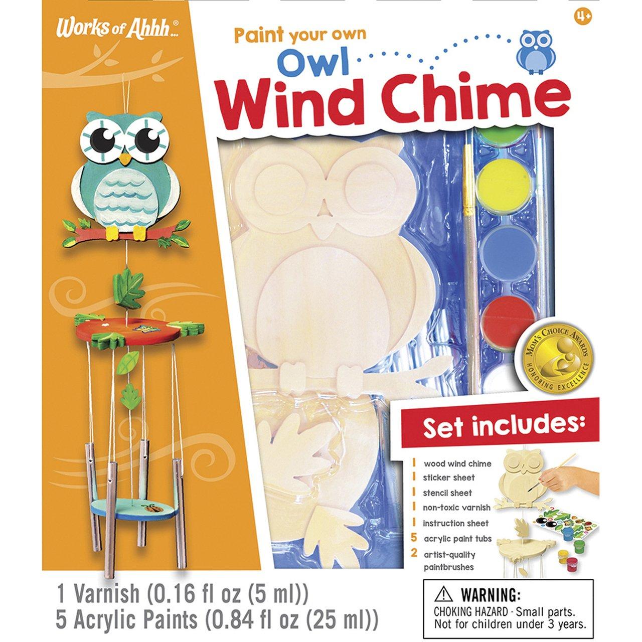 WIND CHIME OWL WOOD PAINT KIT