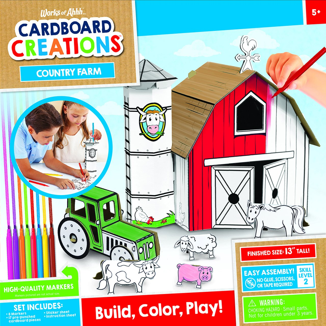 COUNTRY FARM BUILDABLE CARDBOARD CREATIONS KIT