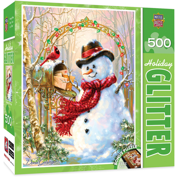 HOLIDAY GLITTER LETTERS TO FROSTY - FROSTY THE SNOWMAN 500 PIECE JIGSAW PUZZLE