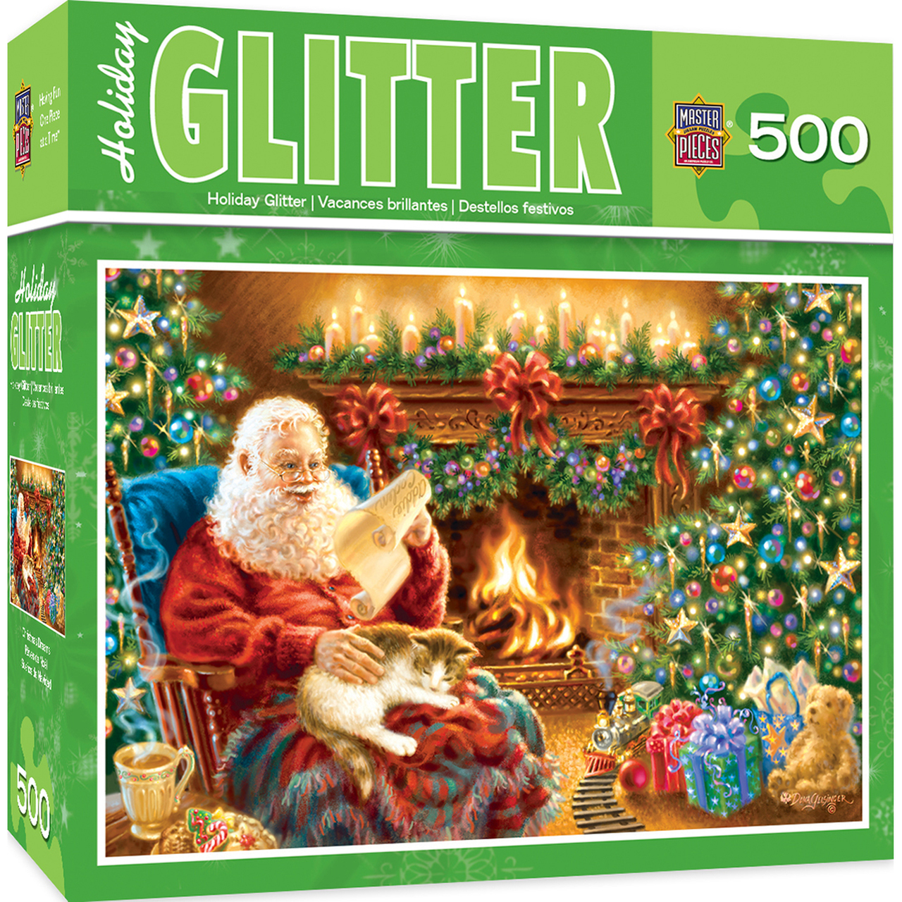 HOLIDAY CHRISTMAS DREAMS 500 PIECE GLITTER JIGSAW PUZZLE