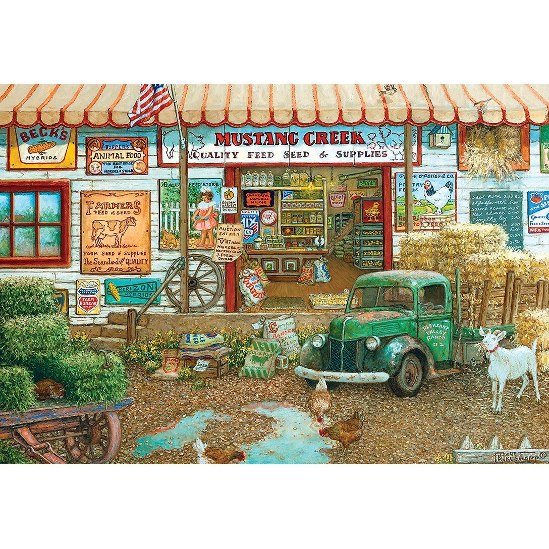 SIGNATURE SERIES - FARM & FLEET STORE 2000 PIECE JIGSAW PUZZLE