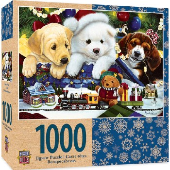 Masterpieces Holiday - Toyland Pups 1000pc Puzzle Games (Misc)