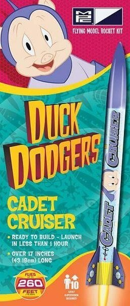 MPC Duck Dodgers Cadet Cruiser Flying Model Rocket Kit