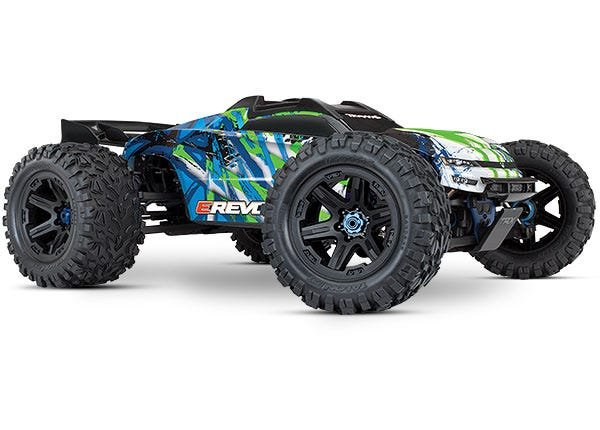 E-Revo VXL Brushless:  Green 1/10 Scale 4WD Brushless Electric Monster Truck with TQi 2.4GHz Traxxas Link
