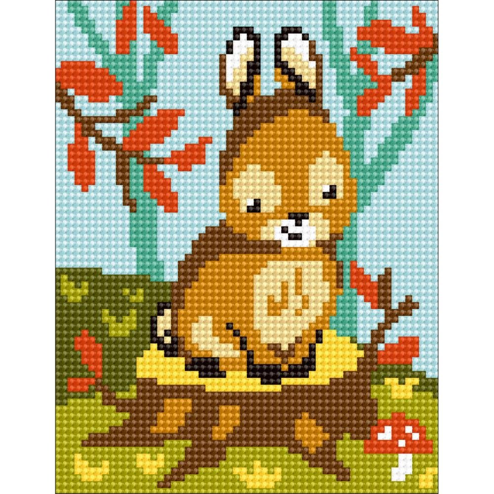 Bunny Stamped Needlepoint Kit
