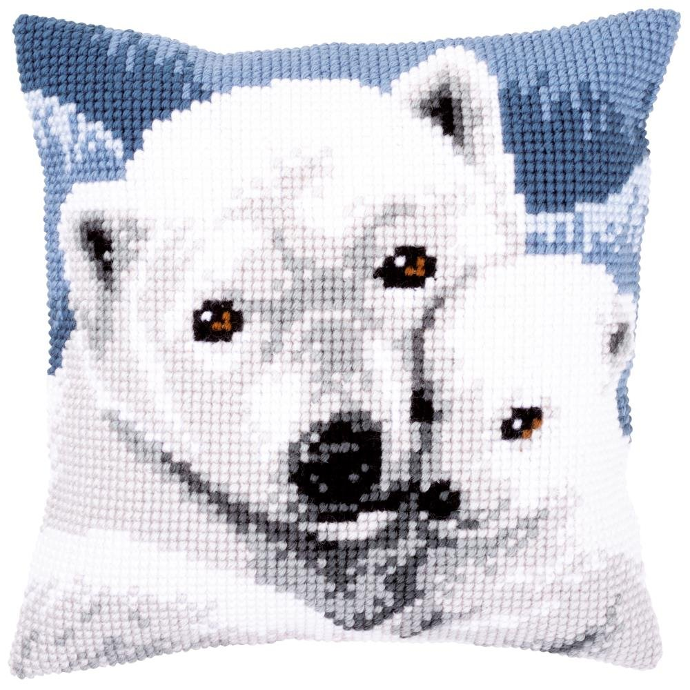 Polar Bears Needlepoint Cushion Top Kit