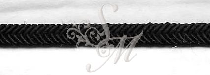 Black Flat Rayon Braid