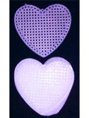"3"" Heart Plastic Canvas Shape"