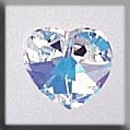 13036 Small Heart Crystal Aurora Borealis (AB) Crystal Treasure