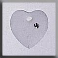 13049 Small Frosted Heart Crystal Crystal Treasure