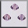 13028 Rondele Light Amethyst Aurora Borealis (AB) Crystal Treasure