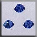 13033 Rondele Sapphire Aurora Borealis (AB) Crystal Treasure