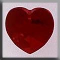 13046 Medium Heart Siam Crystal Treasure